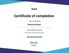 EquiJuri Foundr Consultant Empire Course Certificate