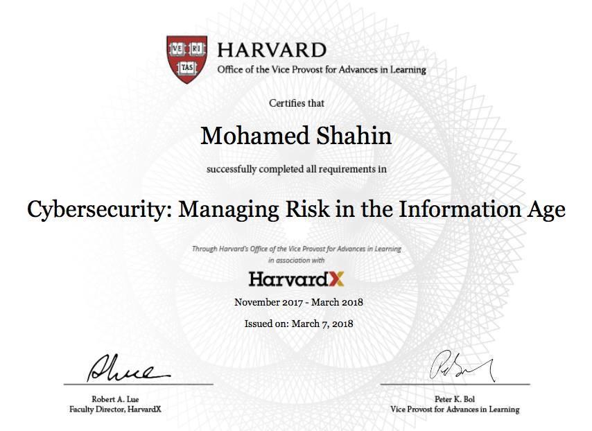 Harvard Cybersecurity