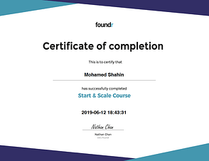 EquiJuri Foundr Start and Scale Course Certificate
