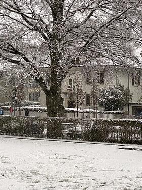 snow in Biel Switzerland