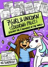 Girl & Unicorn Coloring Pages - EquiJuri