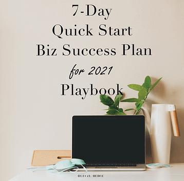 7-Day Quick-Start Biz Success Plan for 2020 Playbook
